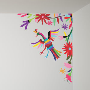 Colourful Mexican Style Corner Wall Sticker - wall stickers