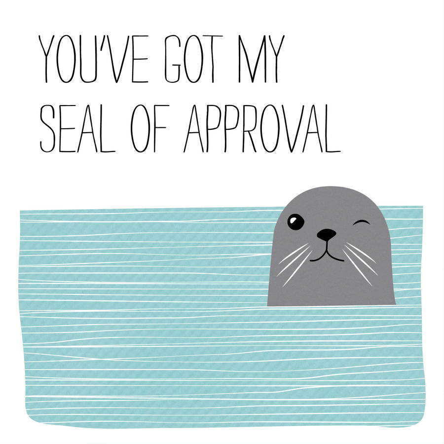 seal of approval valentine's card by allihopa ...