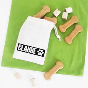 Personalised 'Name' Pet Treat Bag - food, feeding & treats