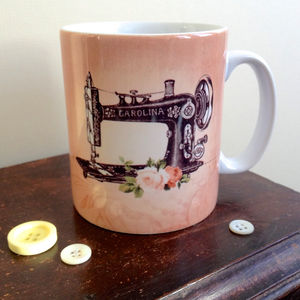 Vintage Inspired Sewing Machine Mug - mugs