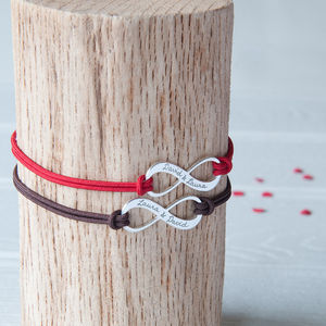 Personalised Infinity Bracelet Duo - stag do styling & gifts