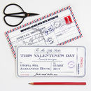 Personalised Valentine's Day Ticket