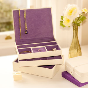 Set Of Three Stacking Jewellery Trays - gifts under £100 for her