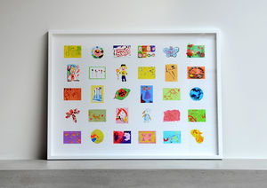 Bespoke Children's Artwork Collage - children's room