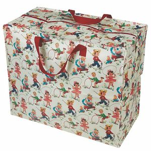 Vintage Kids Print Jumbo Storage Bag