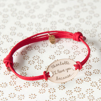 Girlfriend's Personalised Oval Plate Bracelet