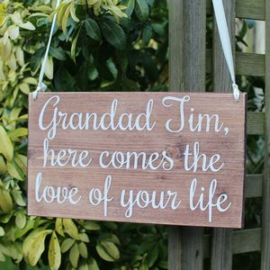 Personalised The Love Of Your Life Wedding Sign