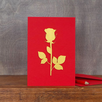 Valentine's Rose Card