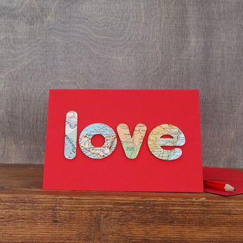 Handmade Love Letters Card