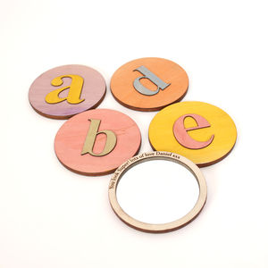 Alphabet Letter Pocket Mirror