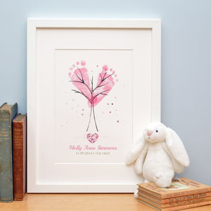 Baby Hand And Footprint Tree - posters & prints