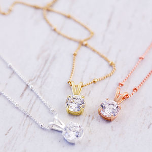 Solitaire Necklace - wedding jewellery
