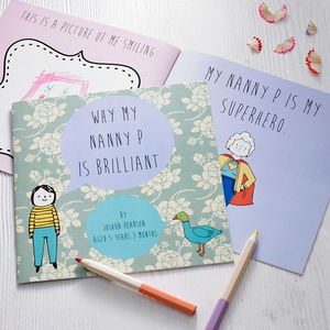 Personalised 'Why My Grandma Is Brilliant' Gift Book - gifts for grandparents