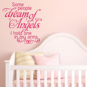 Dream Of Angels Quote Wall Sticker - home sale