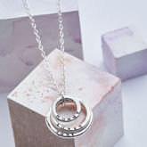 Personalised Family Names Necklace - mother's day