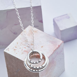 Personalised Family Names Necklace - gifts for mothers