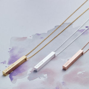 Personalised Bar Necklace - mother's day gifts