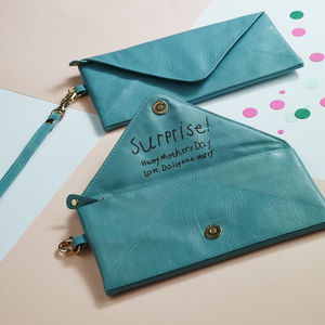 Love Letter Envelope Leather Clutch - women's accessories