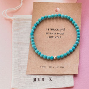 'Struck Gold With A Mum Like You' Bracelet - gifts for mothers