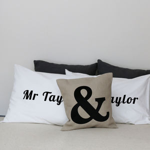 Personalised Pillow Case Set - bed linen