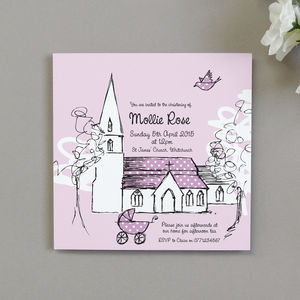 Personalised Beau Christening Invitations - invitations