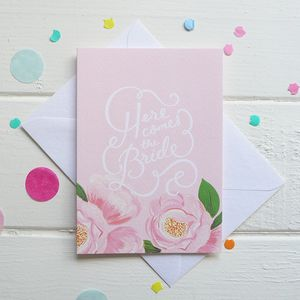 Here Comes The Bride Card - shop by price