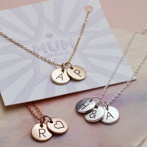 Triple Letter Disc Necklace - personalised
