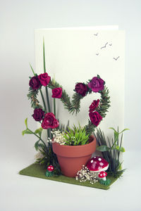 'Love Grows' 3D Greetings Card