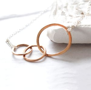 Mum And Me Rose Gold Necklace - necklaces & pendants