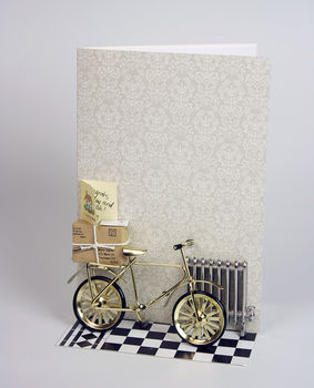 Bicycle Lovers 3D Greetings Card