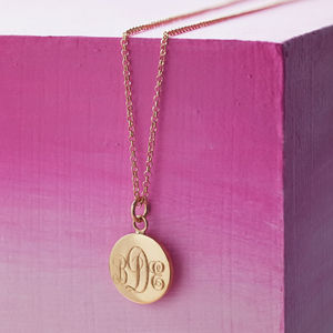 Monogram Necklace - yellow gold jewellery