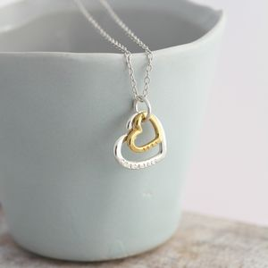Personalised Silver And 9ct Gold Family Heart Necklace - shop by occasion