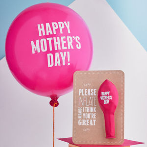 'Happy Mother's Day' Balloon Card