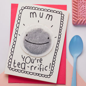'Tea Rrific' Mother's Day Card - funny cards