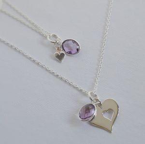 Mother And Daughter Heart Necklace Set - necklaces & pendants