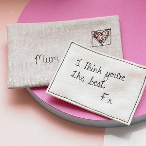 Personalised Love Note - 4th anniversary: linen