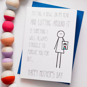 Bob: Hair Cut Mother's Day Card - funny cards