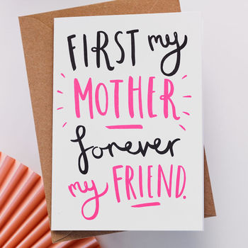 'First My' Mother's Day Card
