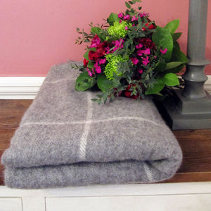 Natural Lambswool Blanket - blankets & throws