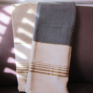 Golden Sofa Cotton Throw