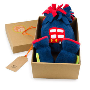Bus Hat And Mittens Gift Set For Baby And Child