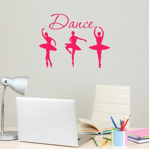 Three Dance Ballerinas Wall Sticker - wall stickers