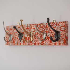 Tile Fabric Mismatched Hook Coat Rack