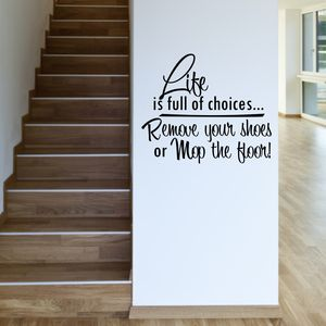 Remove Your Shoes Quote Wall Sticker - home sale