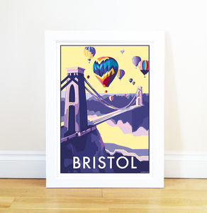 Bristol Vintage Style Seaside Poster - posters & prints