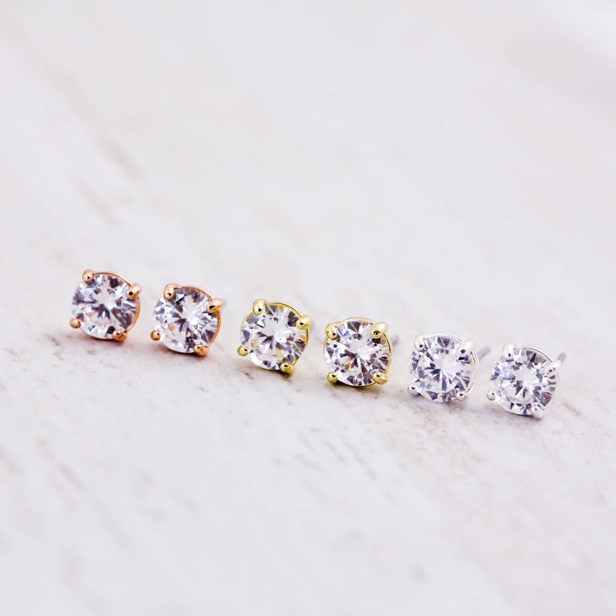 earrings stud buy shop solitaire beautiful