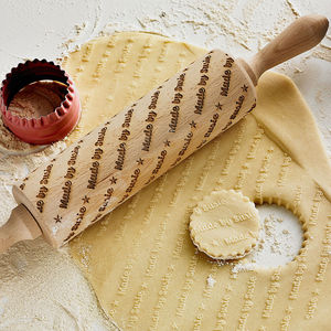 Personalised Embossing Rolling Pin - gifts for her