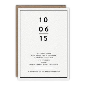 Jett Wedding Invitation - invitations