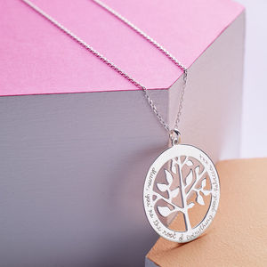 Personalised Tree Of Life Necklace - charm jewellery