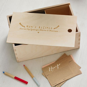 Personalised Recipe Box - gifts for her